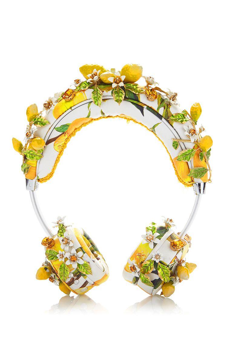 Lemon Floral Headphones by DOLCE & GABBANA