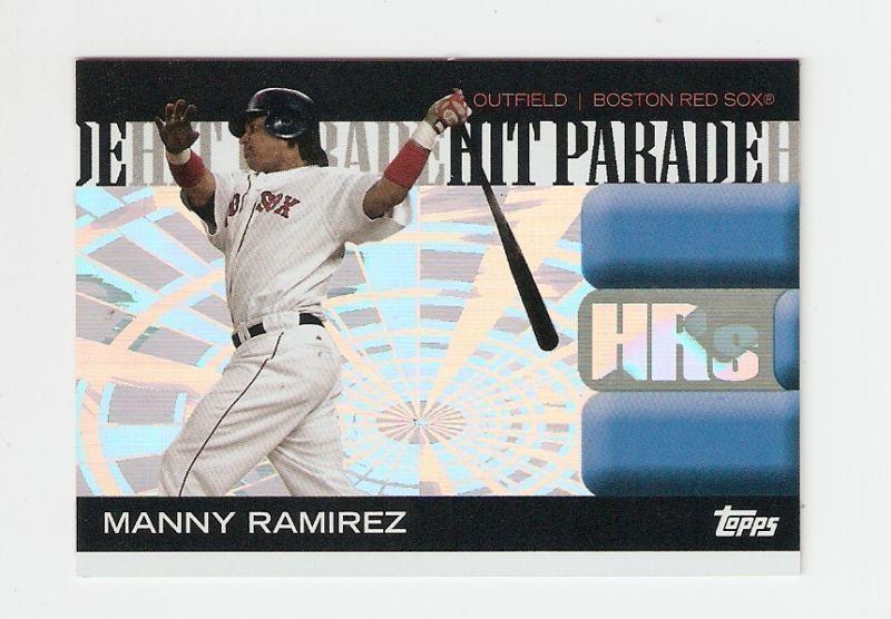 2006 manny ramirez topps hit parade baseball trading card