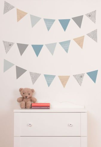 woodland bunting - woodland wall stickers - wall stickers - wall