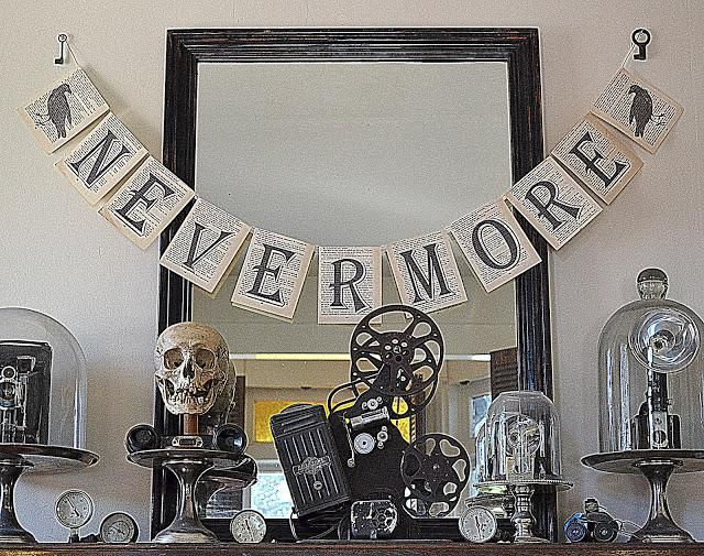 Mantel Decorations  IDEAS  INSPIRATIONS  Halloween Mantel Ideas