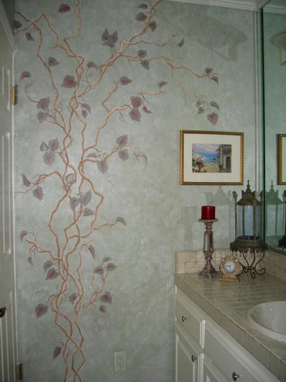 Vine On A Bedroom Wall Decorative Hand Painting Painting