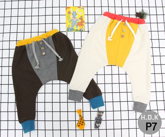 Baby sewing pdf pattern/ kids baggy pants with button/ children ...