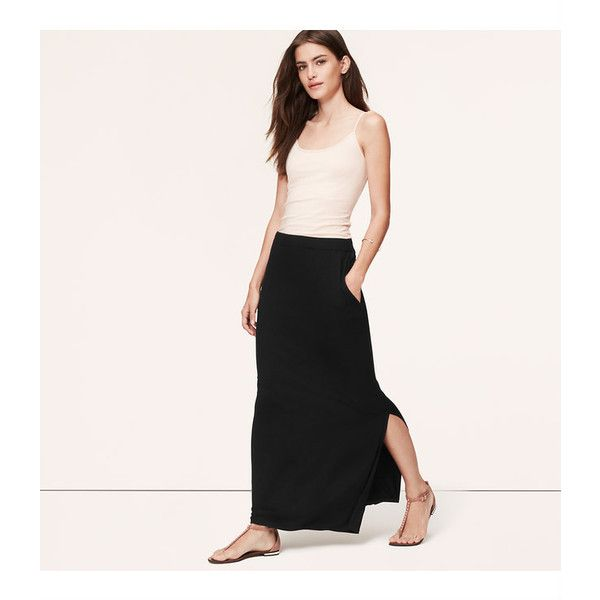LOFT Petite Pocket Maxi Skirt ($40) ❤ liked on Polyvore featuring ...