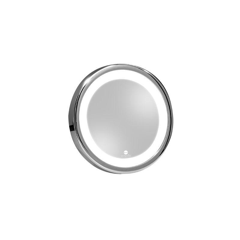 Macom 211/Solar Sensation Miroir Grossissant et Lumineux pour Maquillage Argent Grossissant 7x avec Lumi/ère LED et Ventouses
