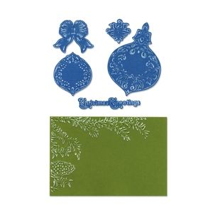 Ornament Set by Rachael Bright Sizzix Framelits Die Set 8PK with Textured Impressions
