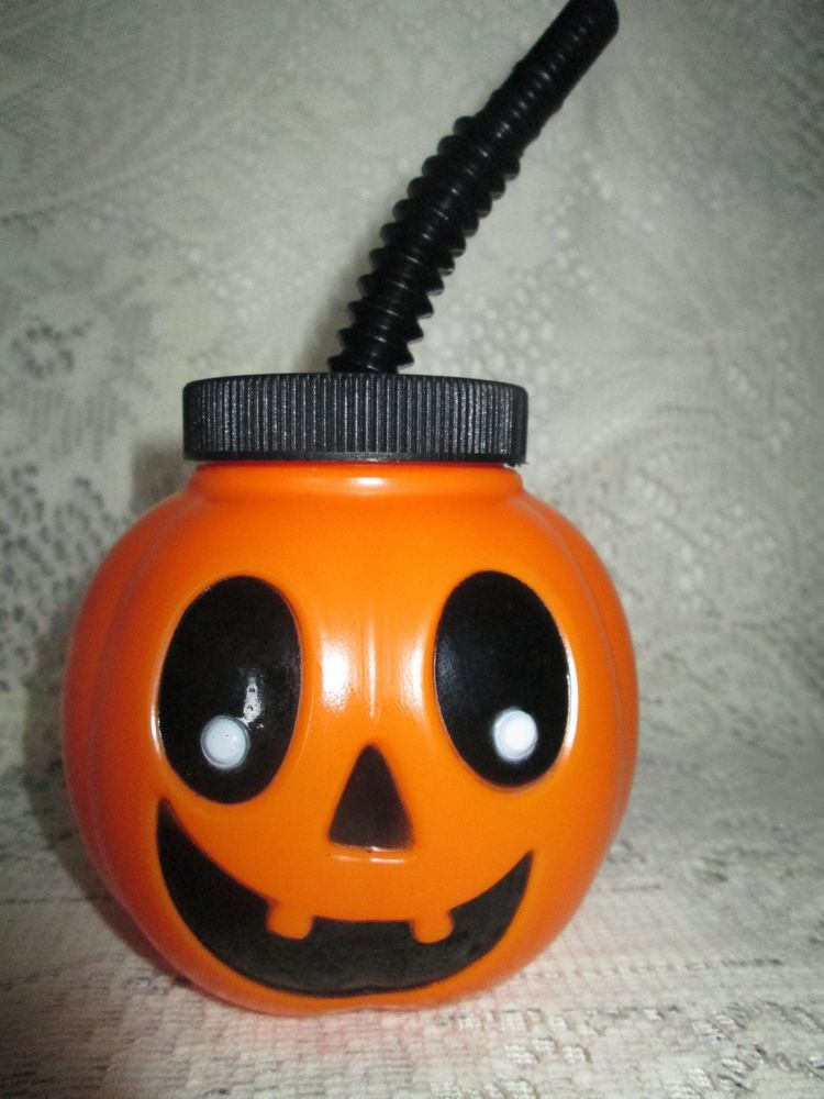 halloween jacko lantern sippy cup goblet
