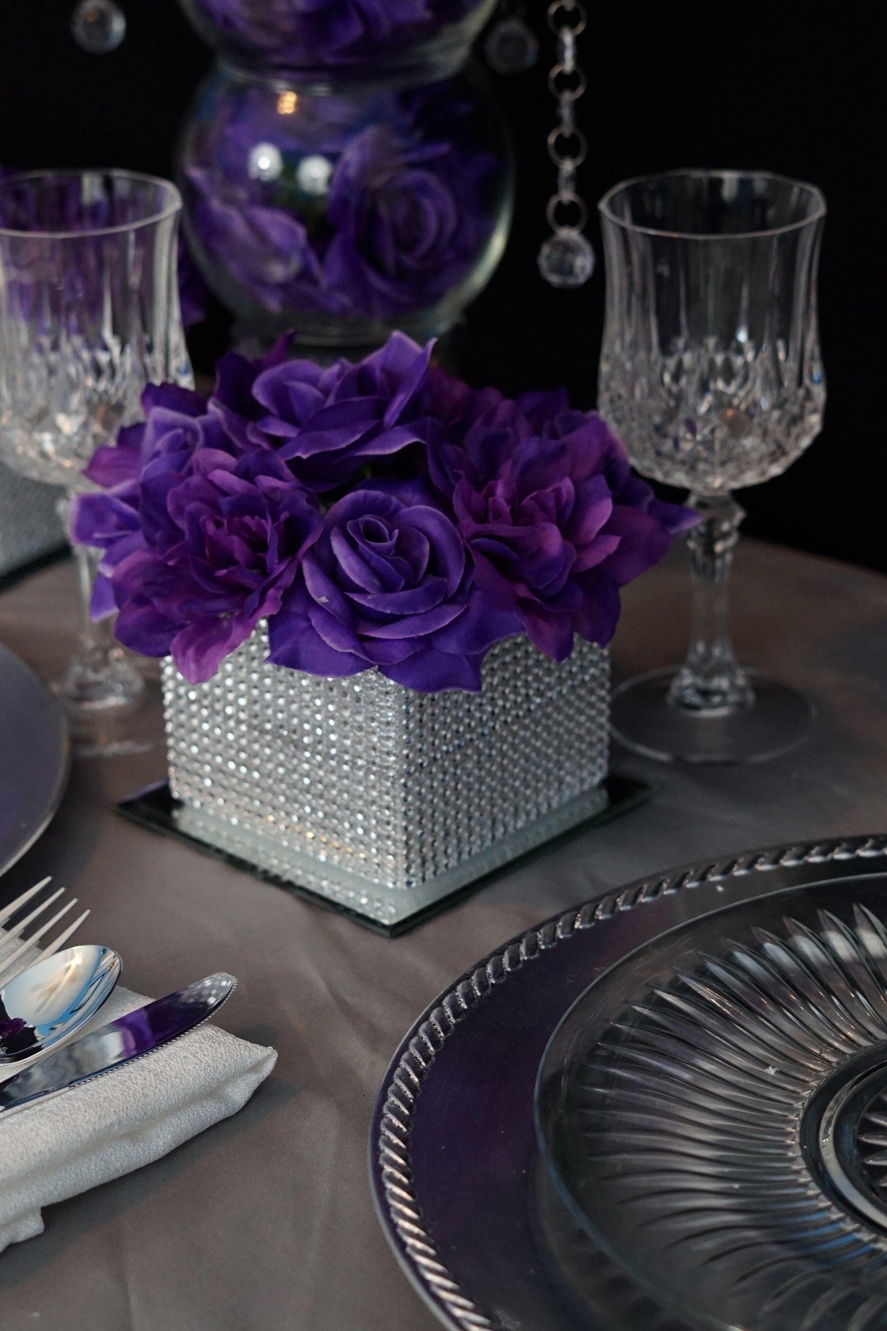 Diy Purple Passion Wedding Centerpiece In 3 Easy Steps Wedding