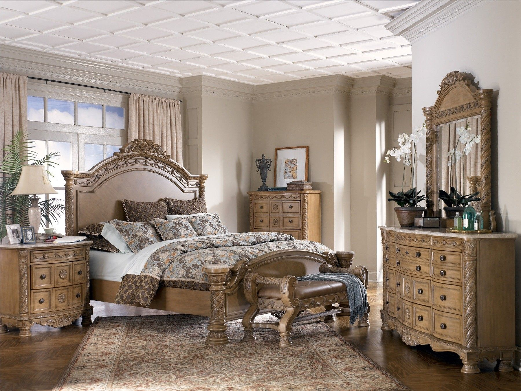 Ashley white bedroom furniture - Ashley Furniture Gallery Ashley Furniture South Coast Panel Bedroom Set Bedroom Sets Bedroom