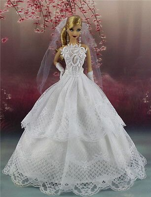 Fashion Party Dress/Wedding Clothes/Gown For 11 in. Doll d20
