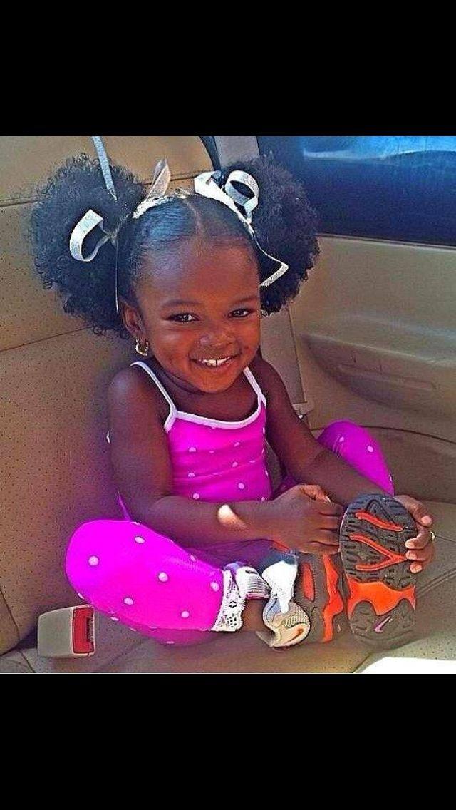 Love The Pom Poms Sooooo Cute Kids Hairstyles Natural Hair Styles Beautiful Black Babies