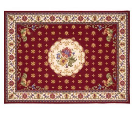 Pierr Deux rooster rug..pretty!