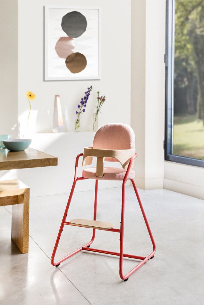 Chaise Haute Bb Volutive Design TIBU Rouge Avec Baby Set