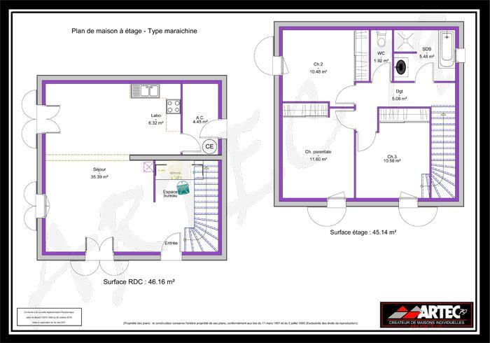 Plan Maison 50m2 Au Sol Maison 2 Etages Gratuit 700 X 490 Pixels Maison Carre Plan Maison Plan Maison 100m2