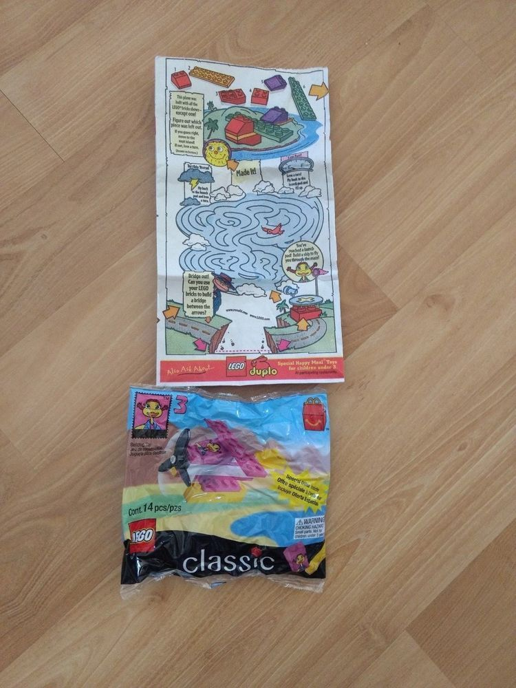 LEGO CLASSIC BUILDING TOYS~1999 McDonald Toy #3 W/Original Paper Bag ...