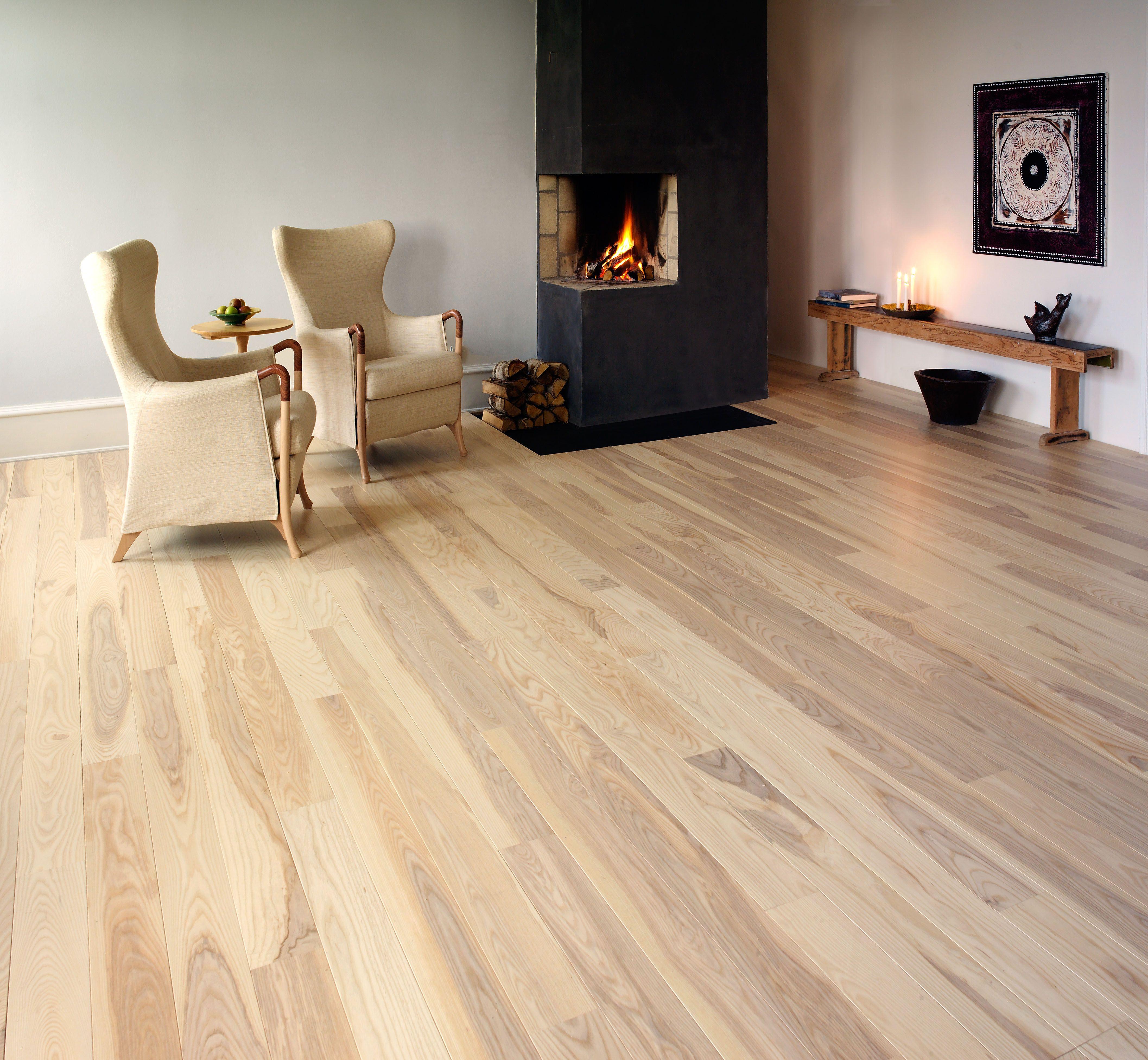 This Junckers' solid wood flooring in light natural tones