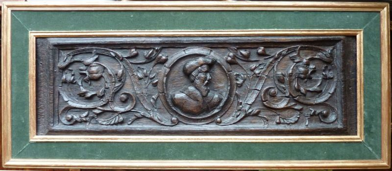 Early 16th Century Antique Oak Romayne Panel, Circa 1520-1525