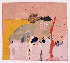FRANKENTHALER, Helen United States of America 1928 Tales of Genji I the 'Tales of Genji' series 1998 1998 relief colour woodcut printed from 11 woodblocks light sienna, wove, handmade, TGL paper edition of 30