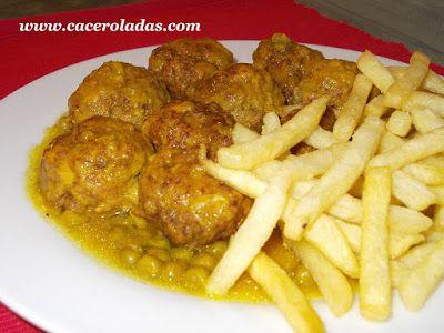 Albóndigas en salsa con guisantes | Recetas con carne ...