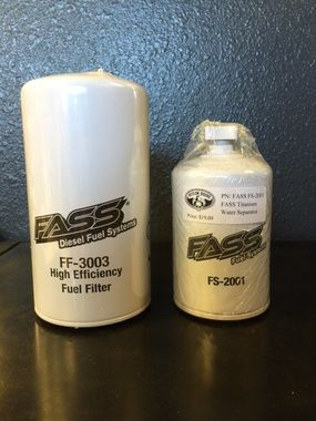 FASS FUEL FILTER and WATER SEPARATOR COMBO for BLUE Titanium