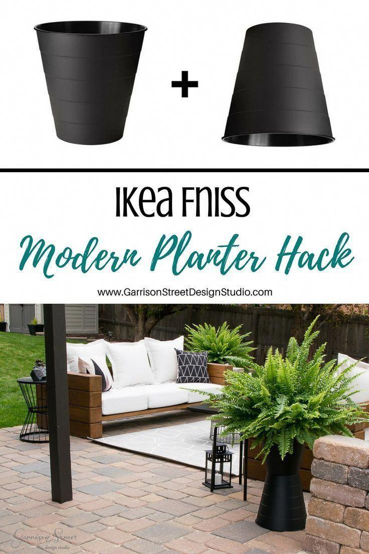 Ikea Fniss Modern Planter Hack | GarrisonStreetDesignStudio | Ikea Bahçe