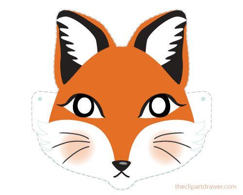 Diy Cute Fox Mask For Kids Printable On A4 Size Paper Perfect
