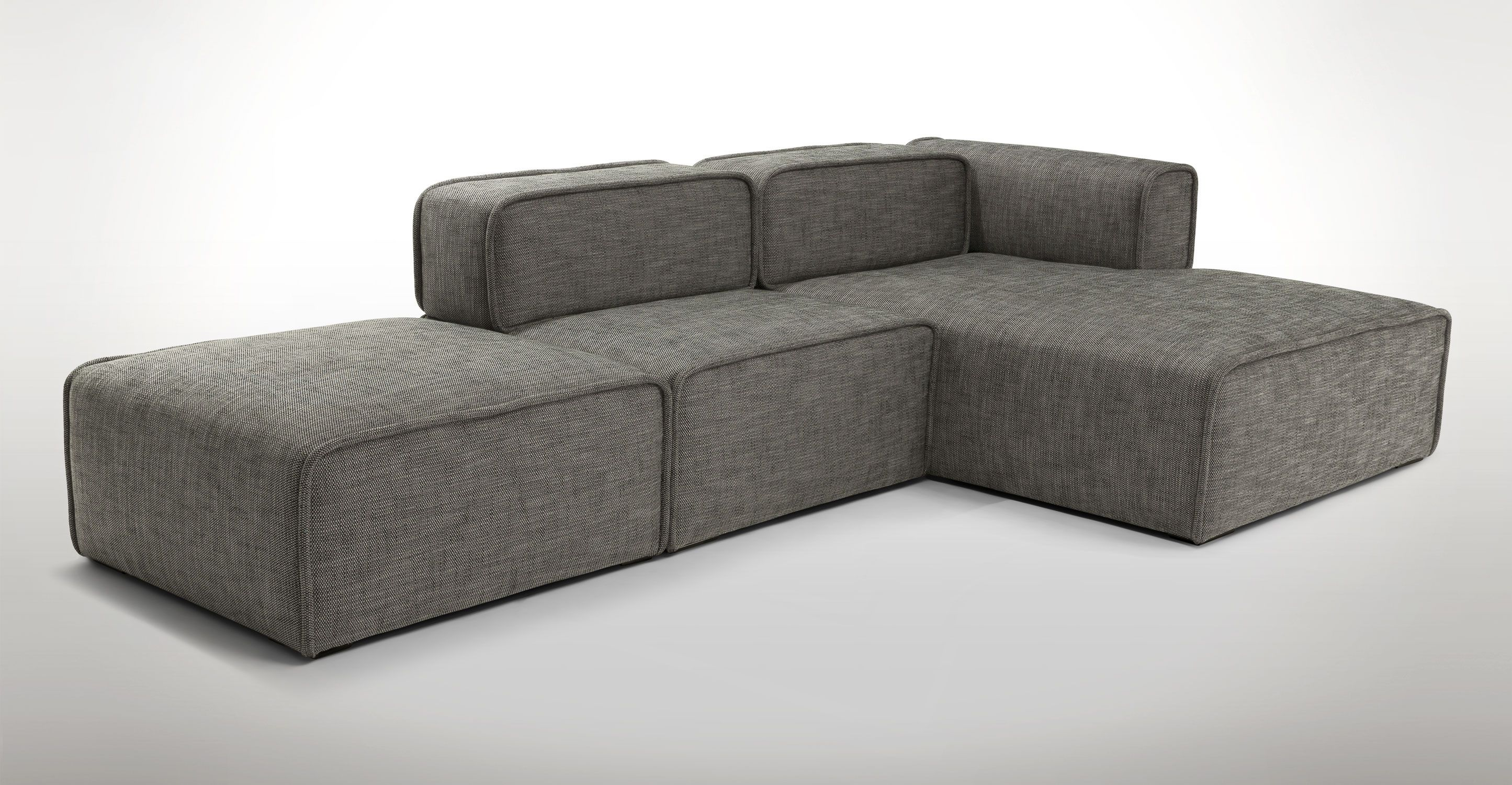 Quadra Mineral Taupe Right Sectional Sectionals Article