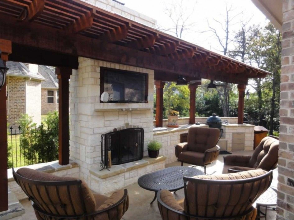 Chic outdoor kitchens fort worth tx with antique kitchen for Outdoor kitchen under pergola
