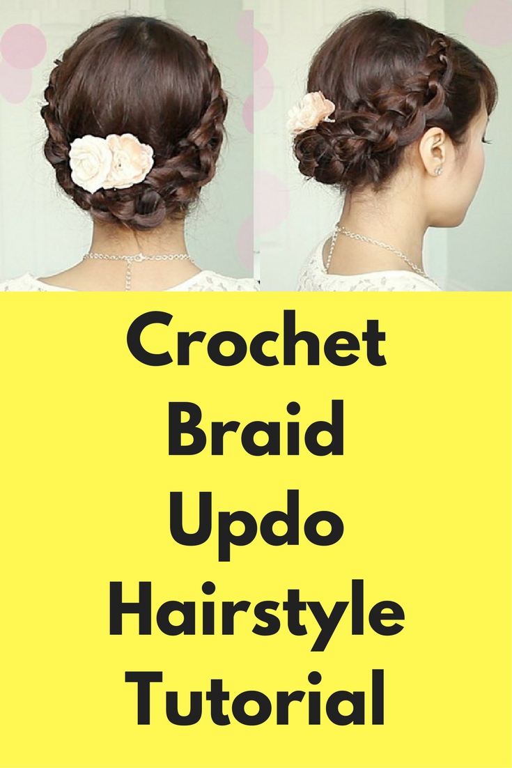 Crochet braid updo hairstyle tutorial this tutorial is about how to