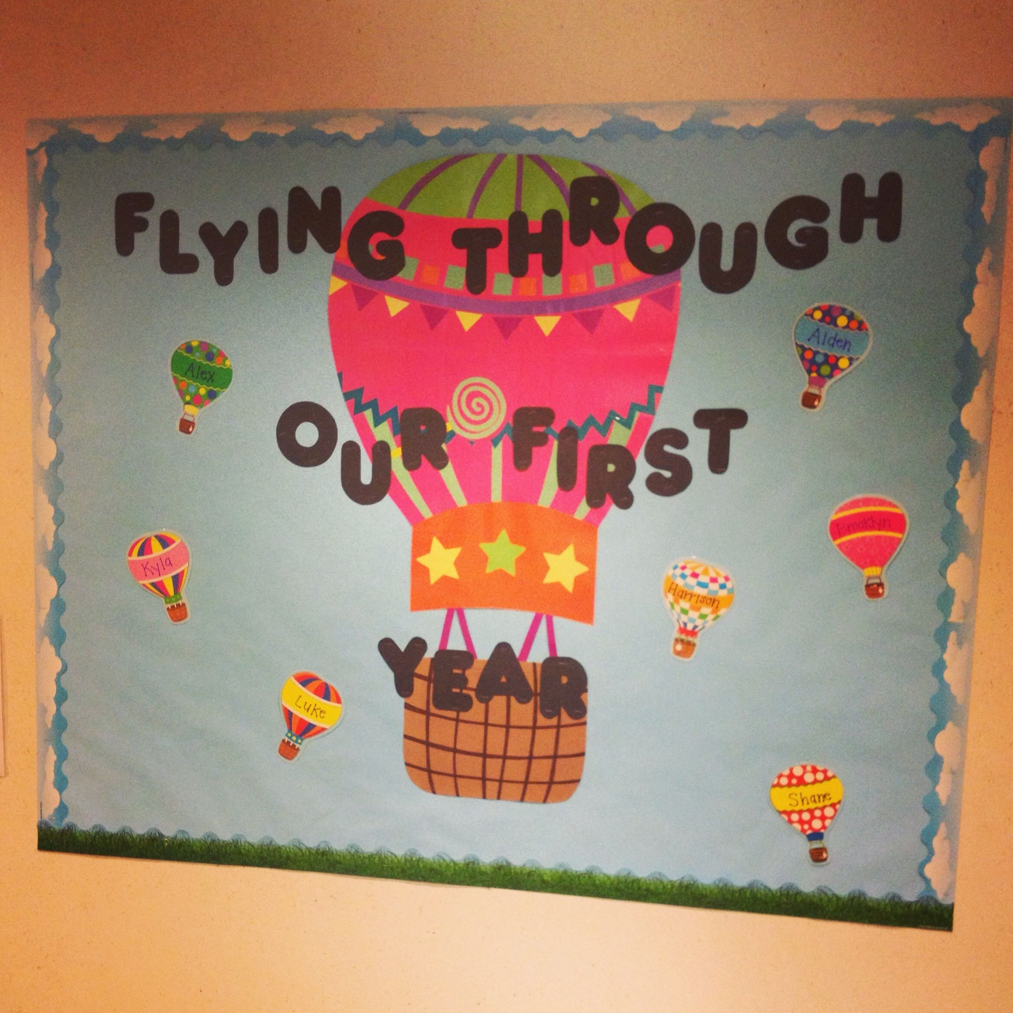 Good bulletin board for an infant room. Flying through our first