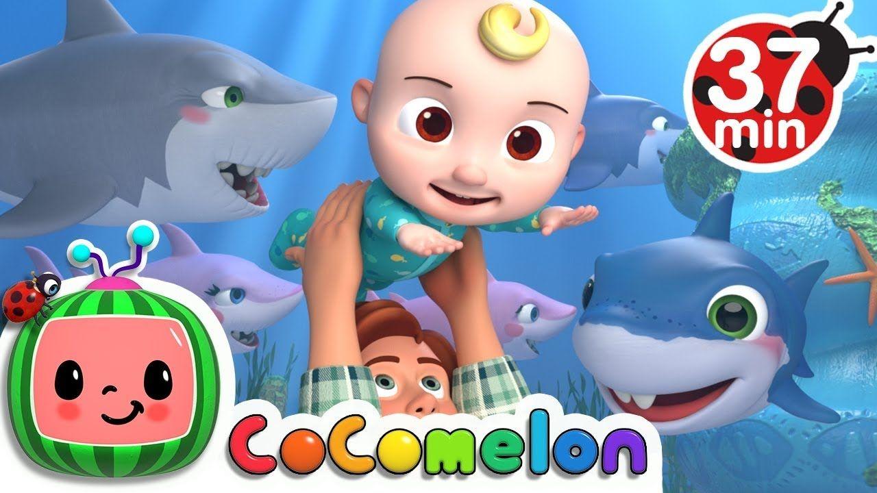 Baby Shark More Nursery Rhymes Kids Songs Cocomelon Abckidtv Youtube Baby Shark Song Kids Songs Shark Nursery