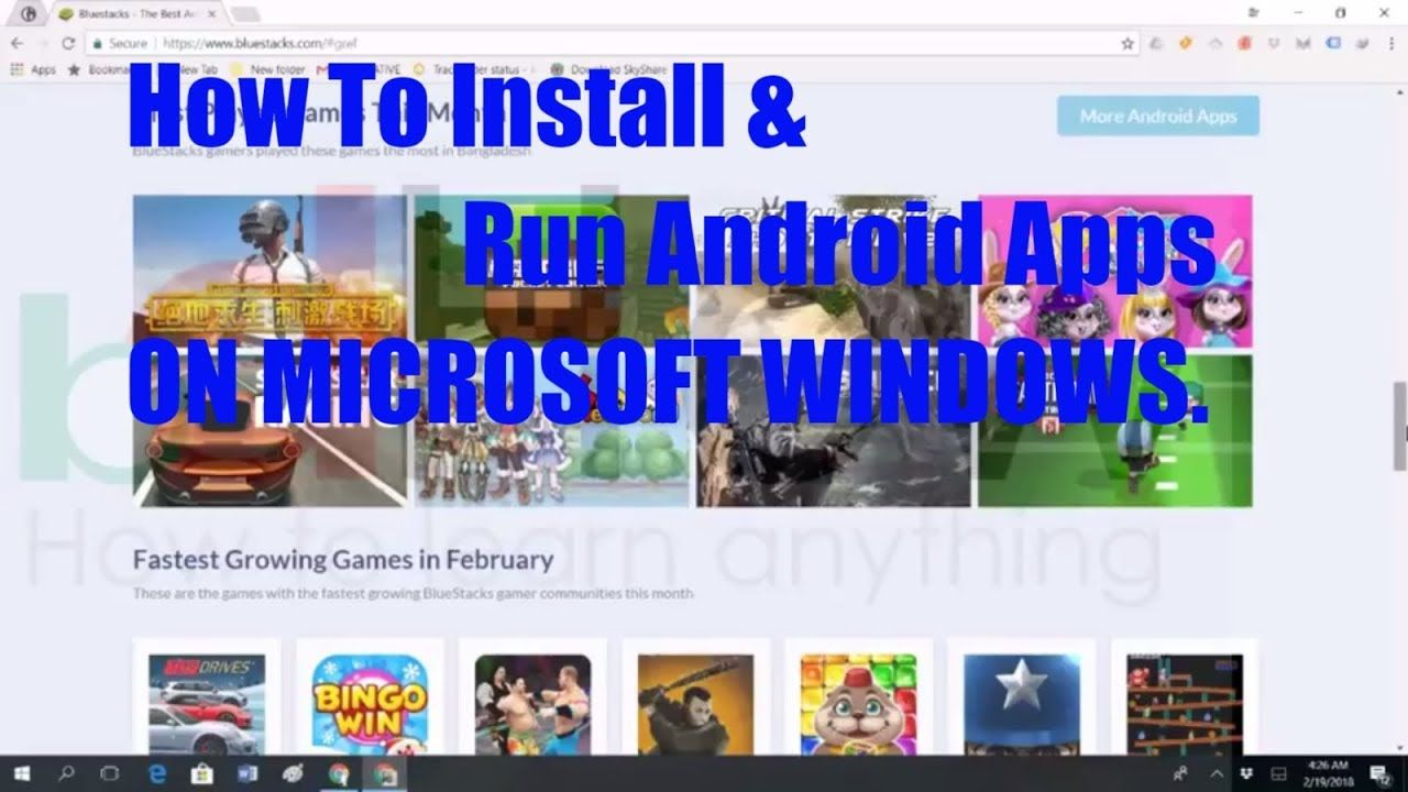 How To Install Android Apps/Apk on Windows 10 & Windows 7