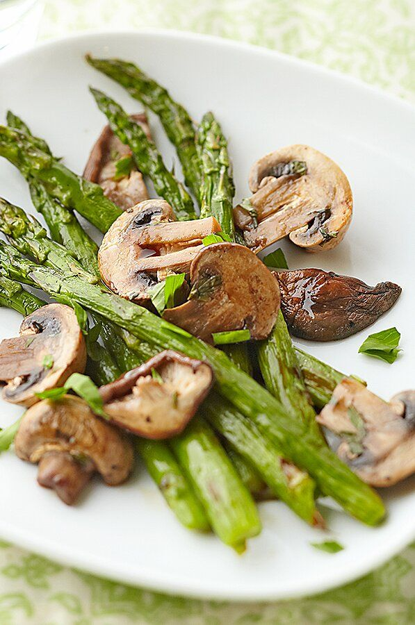 Photo of Asparagus and Wild Mushrooms