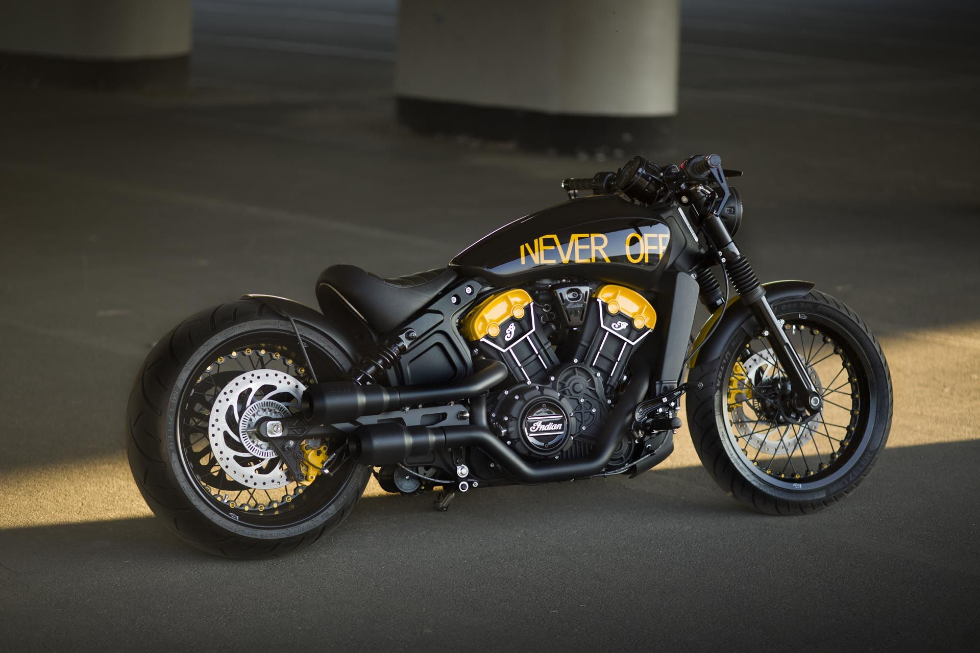 Indian Scout Bobber Never Off Indian Scout Indian Bobber Indian Scout Custom [ 1280 x 1920 Pixel ]