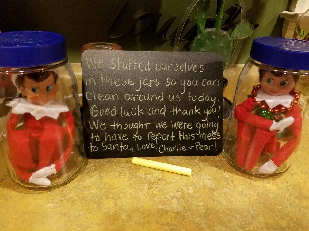 Elf On The Shelf In A Jar Elves Can Easily Be Moved Around When House Cleaning During The Holidays Without Breaking The M Elf Fun Christmas Elf Elf Yourself