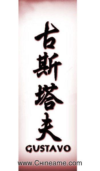 El Nombre De Gustavo En Chino Tatuajes De Nombres Nombres Nombre
