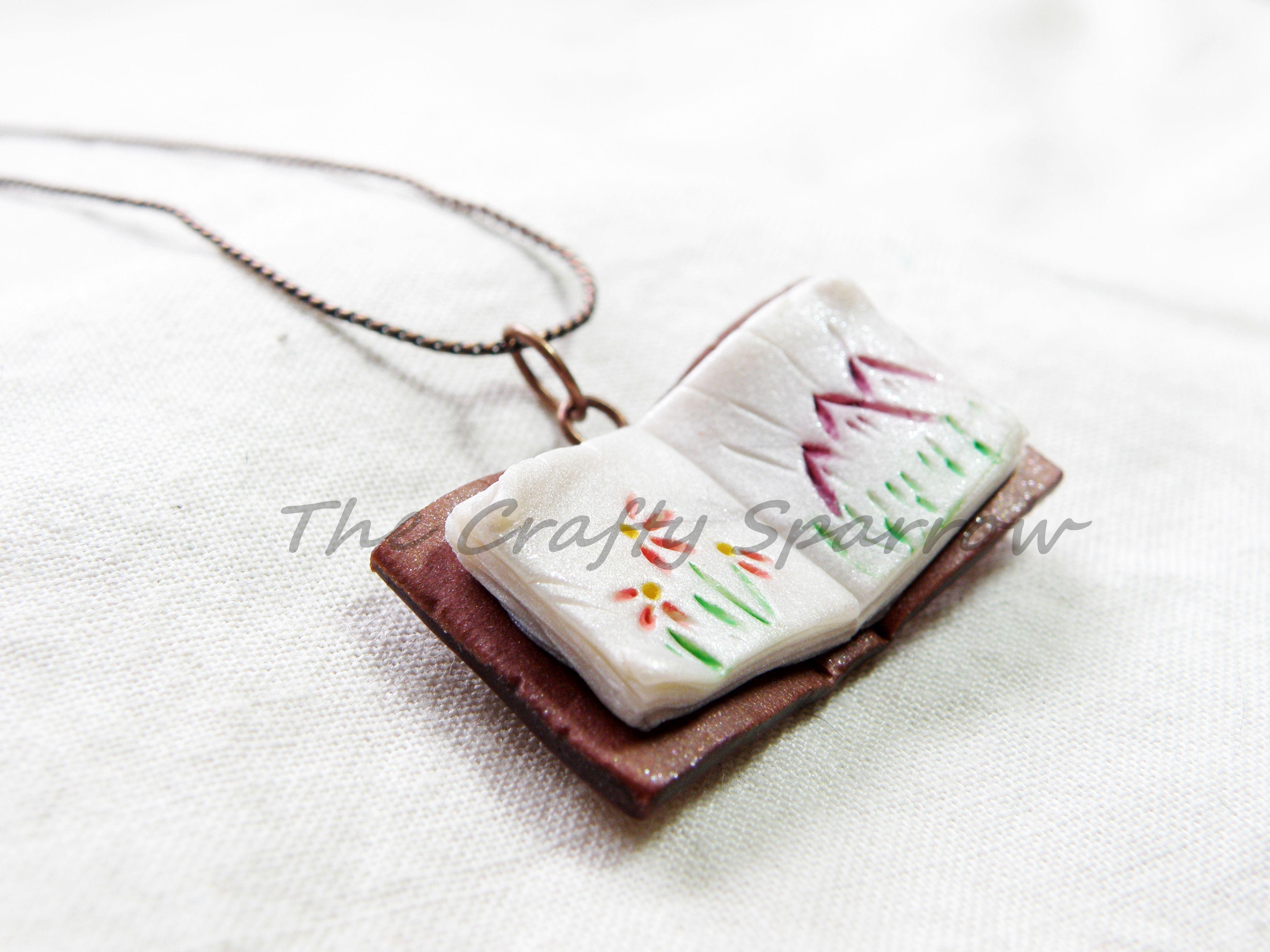 """Artist's Sketchbook"" handmade polymer clay pendant - The Crafty Sparrow"