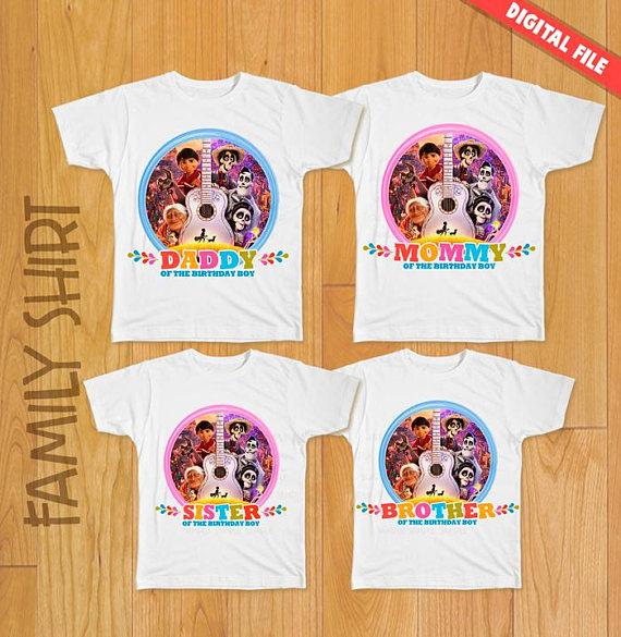 6049bfdd 4 Coco Disney Birthday Family Shirt, Coco Movie shirt, Birthday Boy, Coco  Disney party, Coco Disney iron on transfer, Coco Disney shirts