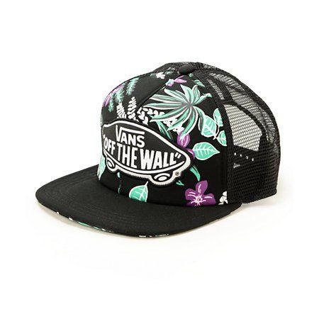 6eed53ffa6d454 Vans Beach Girl Hawaiian Floral Trucker Hat | hats | Vans hats, Hats ...