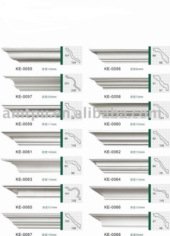 Molding profiles for cornices: | Lighting in 2019 | Cornice moulding