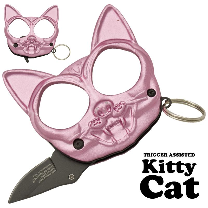 Black Cat Public Safety Jabber and Knife, Pink Black cat