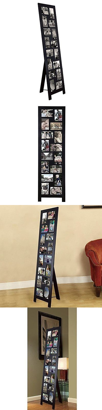 Frames 79654 Adeco 16 Opening 4x6 Black Wood Floor Standing Easel Photo Picture