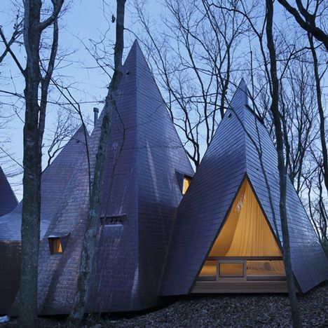 Home by Hiroshi Nakamura looks like a cluster of timber tepees