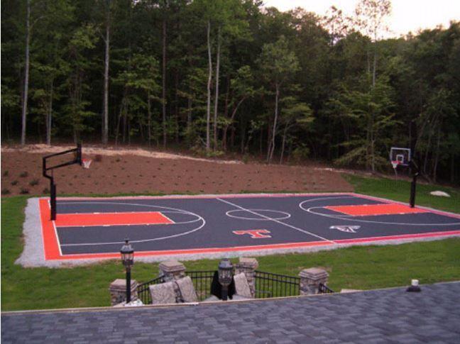 Basketball Courts in 2020 | Backyard basketball ...