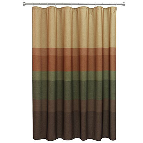 Bacova Guild Textured Layers Spice Fabric Shower Curtain ** Details ...