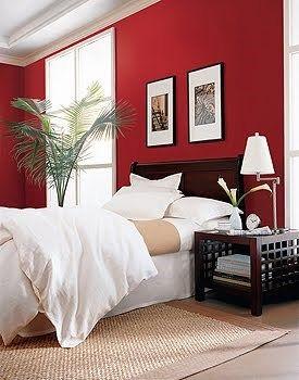 Dormitorio rojo y madera buscar con google dormitorios for Casa minimalista roja