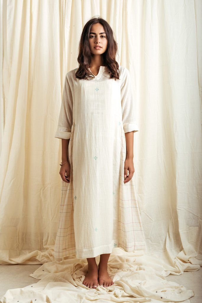 the undefinable comfort of slipping into a white cotton breezy muslin  kurta 748826977