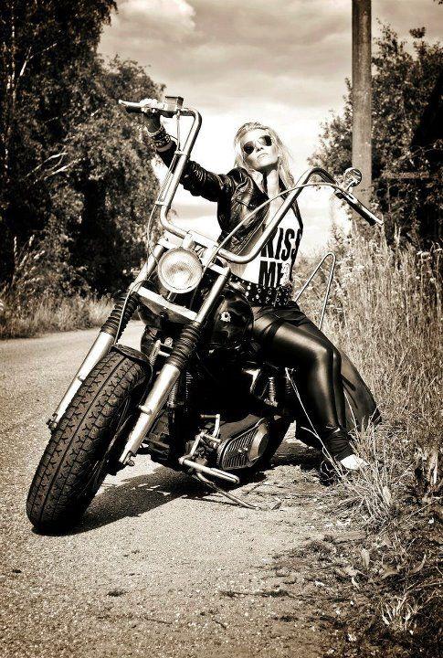 busty redhead biker babes