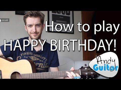 Happy Birthday EASY Guitar Tutorial (How to play) - YouTube | Guitar ...