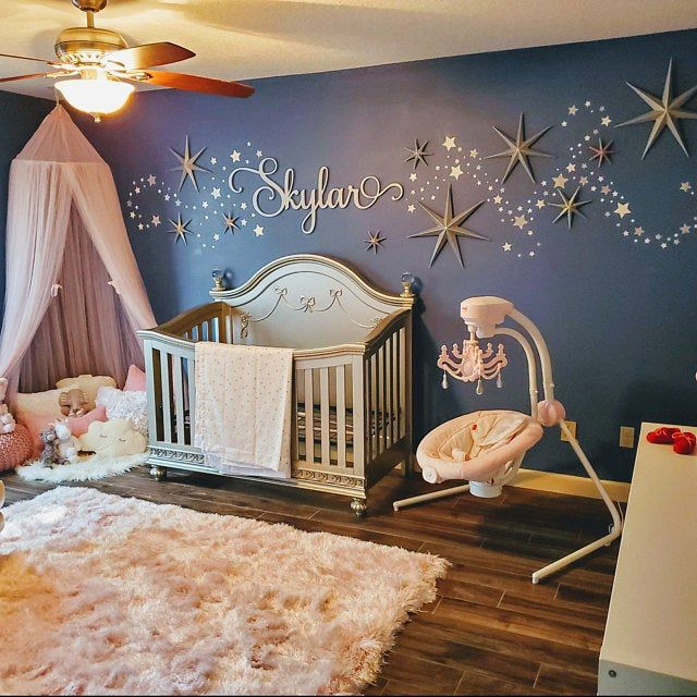 Baby Name Sign – Over the Crib Sign – Wooden Name Sign Wall Hanging – Name Decor – Baby Name Cutout – Handwriting Script Name – Hula Hoop Baby room
