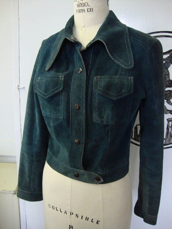 1970's blue-green suede Jacket!